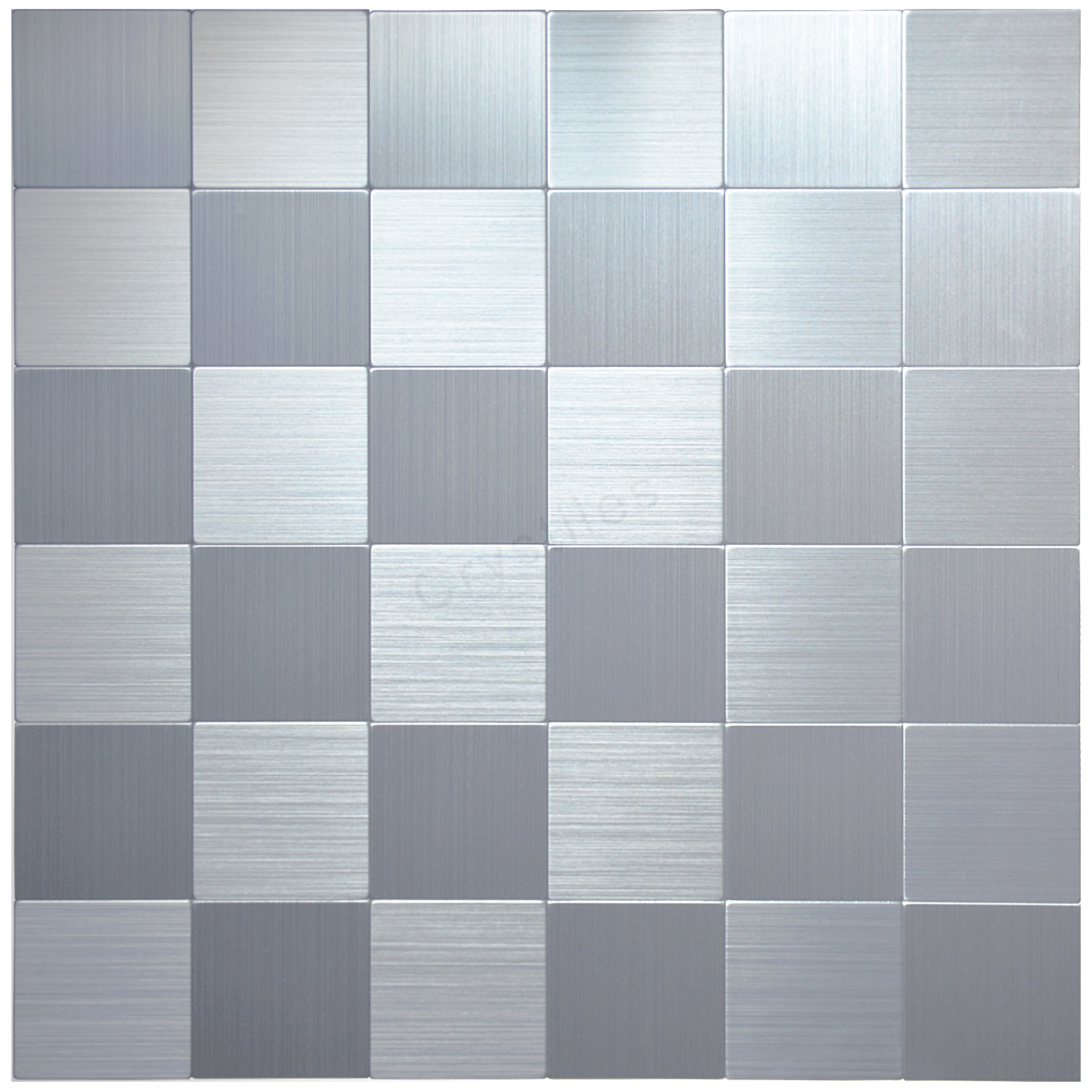 Peel and Stick Brushed Stainless Aluminum Wall Tile, 12\